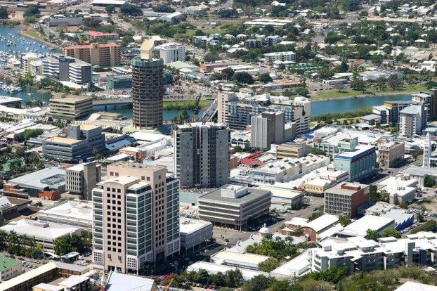 Townsville CBD, 2007, taken from Castle Hill