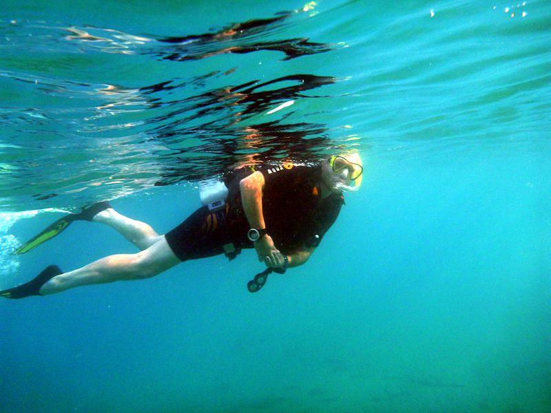 Scuba Diver Snorkeling