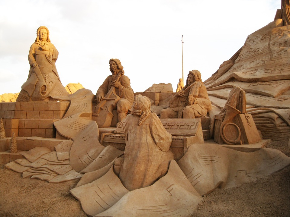 Sand Sculptures Fiesa Portugal Algarve