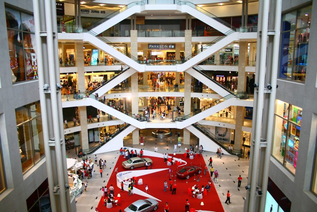 Main centrum of the Pavilion Kuala Lumpur