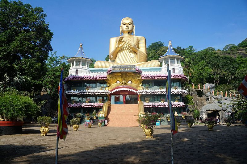 PIERRE ANDRE LECLERCQ, Dambulla Temple d'or (3), CC BY-SA 4.0 Wikimedia Commons