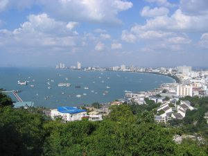 "Pattaya Beach | Image Credit: Sergey S. Dukachev, <a href=""https://commons.wikimedia.org/wiki/File:Pattaya_beach_from_view_point.jpg"">Pattaya beach from view point</a>, <a href=""https://creativecommons.org/licenses/by-sa/3.0/legalcode"" rel=""license"">CC BY-SA 3.0</a>"
