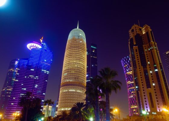 Illuminated City, Doha, Qatar
