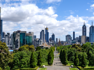 Melbourne as viewed from the Shrine