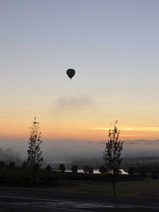 hot air balloon in Hunter Valley