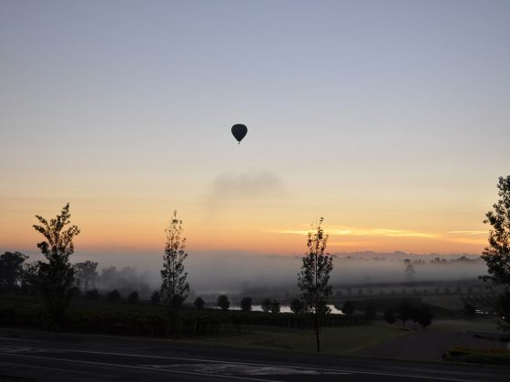 hot air balloon in Hunter Valley