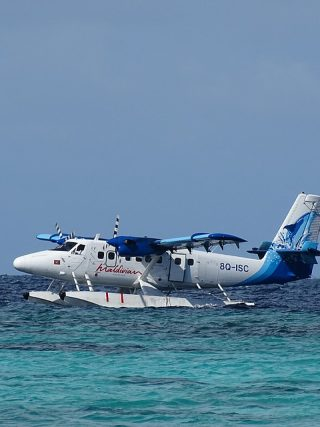 Seaplane in Maldives