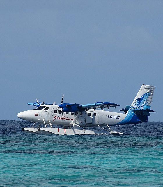 Seaplane in Maldives